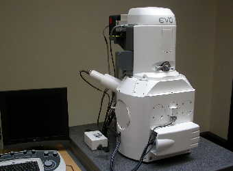 Photograph of a modern scanning electron microscope