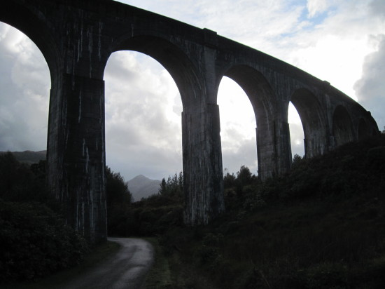 Glenfinnan viaduct, western end, looking South.