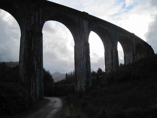 Glenfinnan viaduct, western end, looking South.