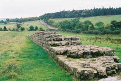 Hadrian's wall, England, a few miles east of Housesteads.